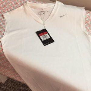 Girls sleeveless golf shirt.